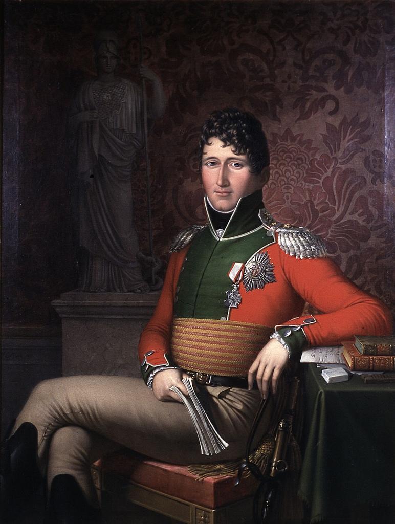 Arveprins Christian Frederik. Maleri.