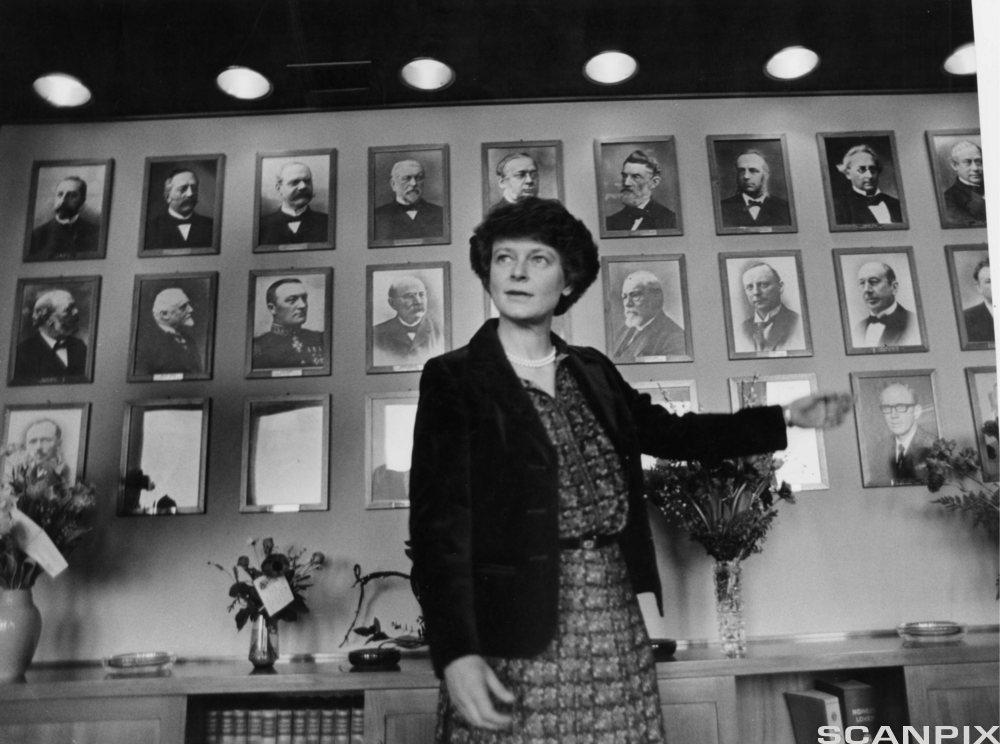 Gro Harlem Brundtland, Norges første kvinnelige statsminister. Foto.