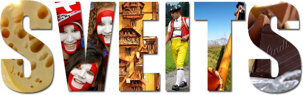Kollasj som illustrerer sveitsisk kultur.