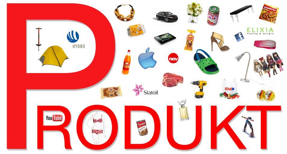 P for produkt. Foto.