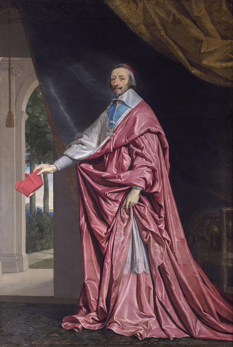 Portrett av kardinal Richelieu. Maleri.