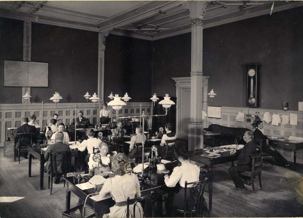 Bergen telegrafstasjon 1899. Foto.