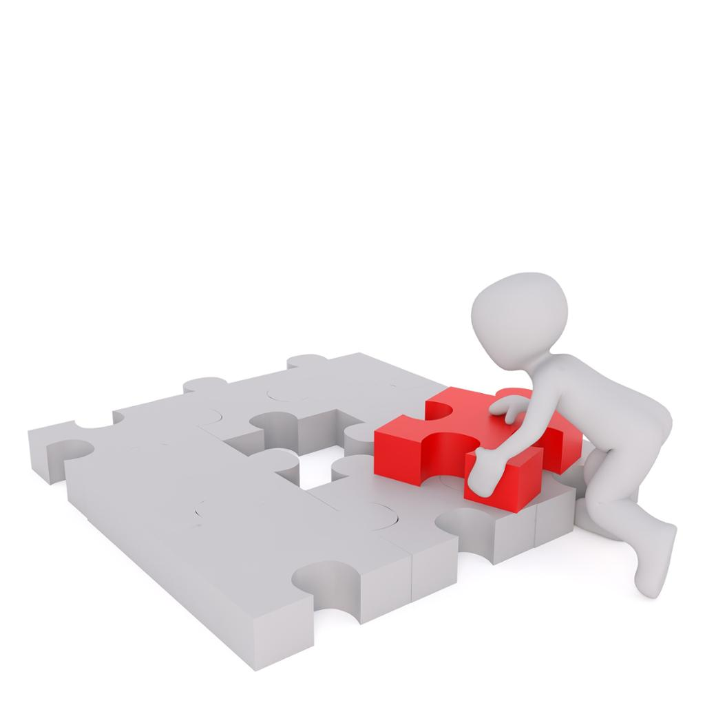 Person puzzles. Illustrasjon.