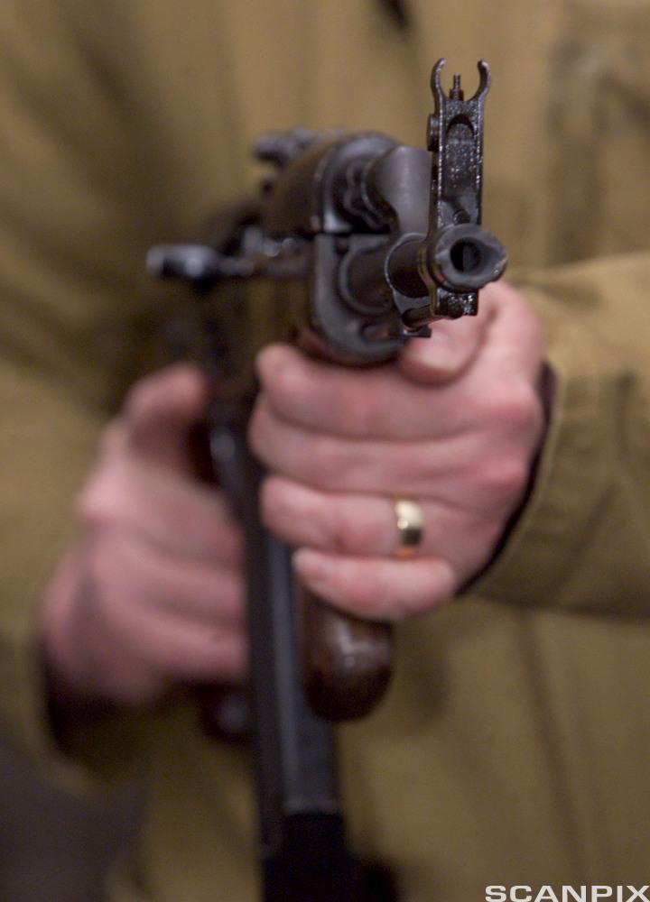 AK47 machine gun