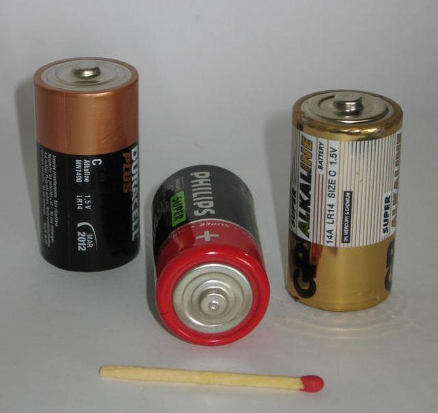 Alkaliske batterier. Foto.