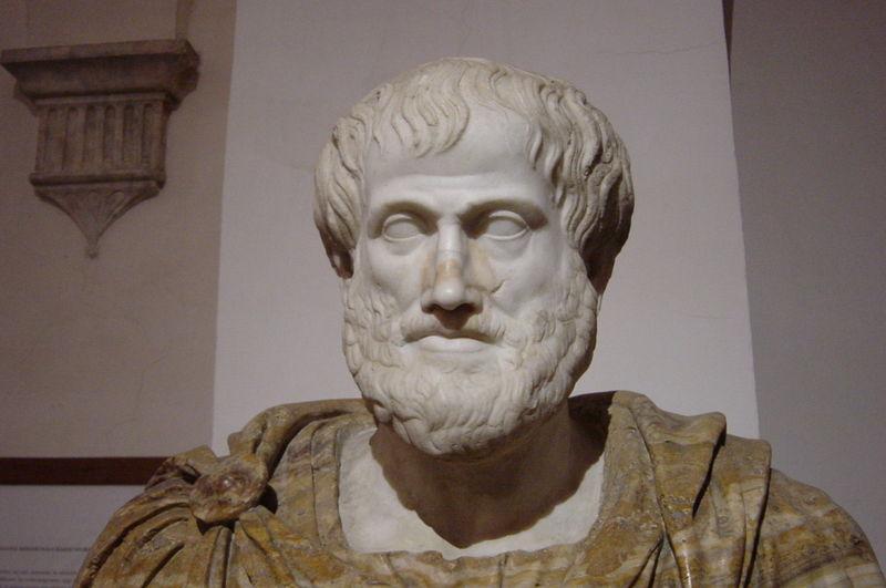 Byste av Aristoteles. Foto.