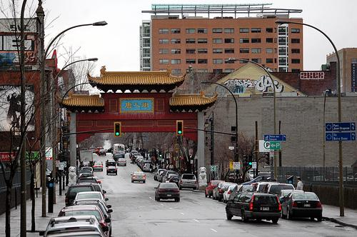 Entrance to the Asian Quarter in Montreal. Photo.