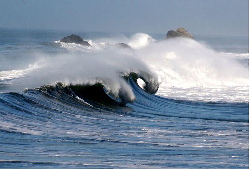 Bølger i Stillehavet