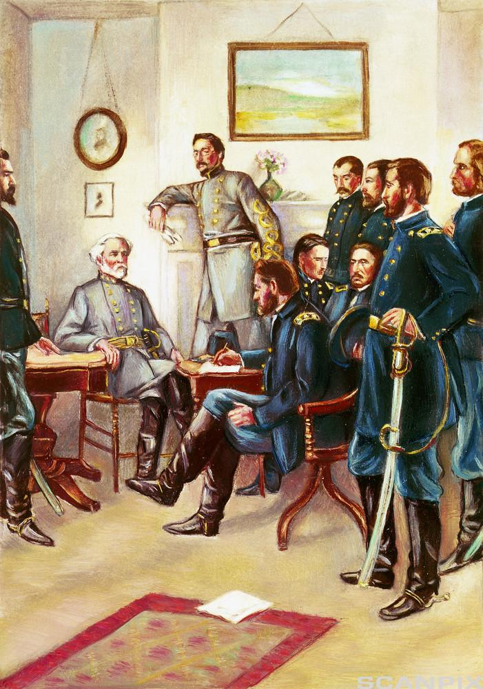 Signing of the Peace Treaty after the Civil War