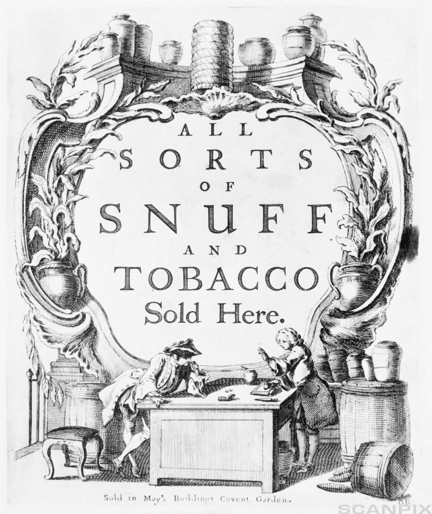 Tobacco Advertisement from the 17th century
