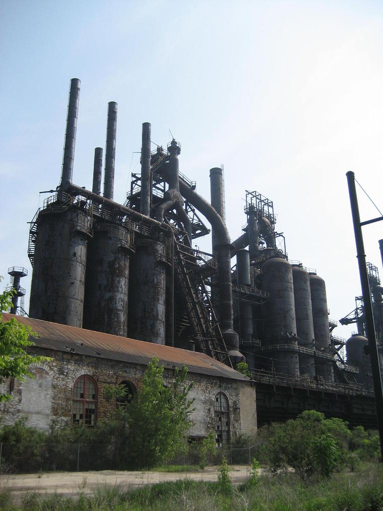 Rusted factory. Photo.