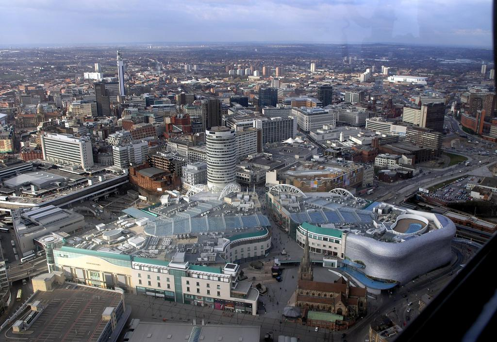 Bimingham seen from above. Photo.