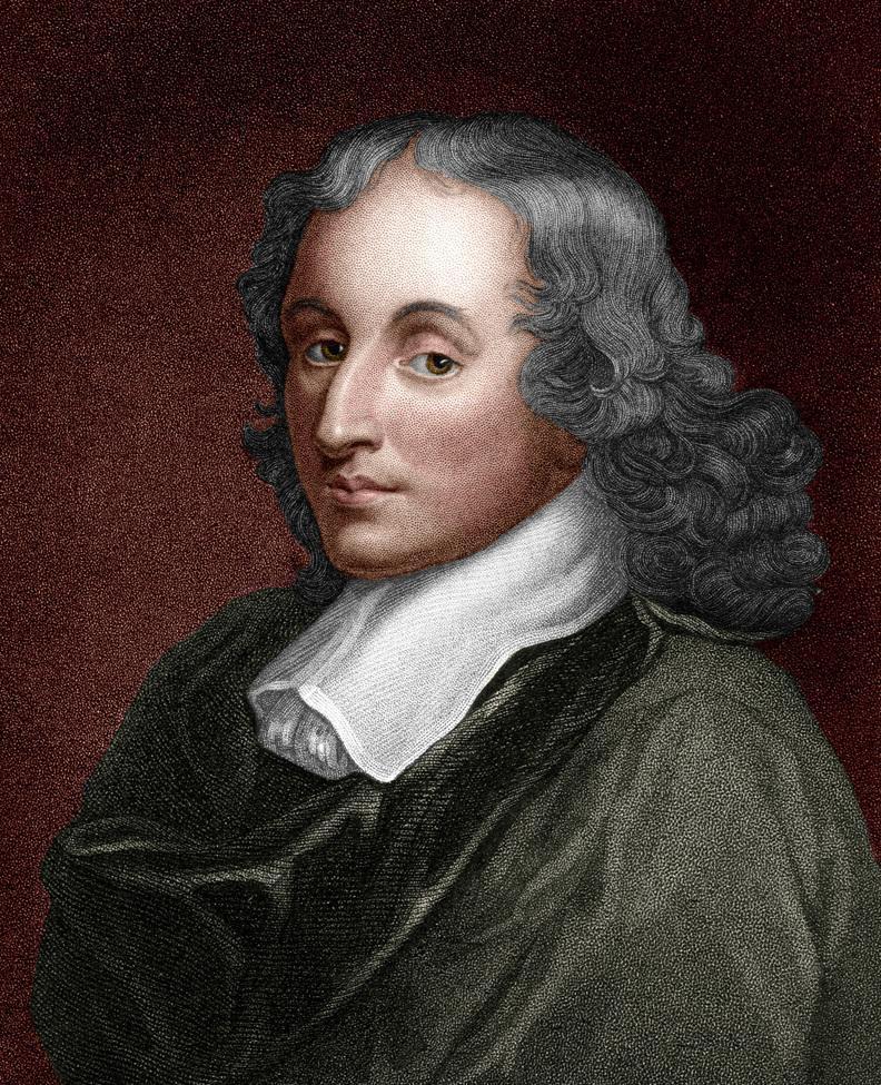 Blaise Pascal (1623 – 1662).  Fransk matematiker, fysiker, oppfinner og filosof.