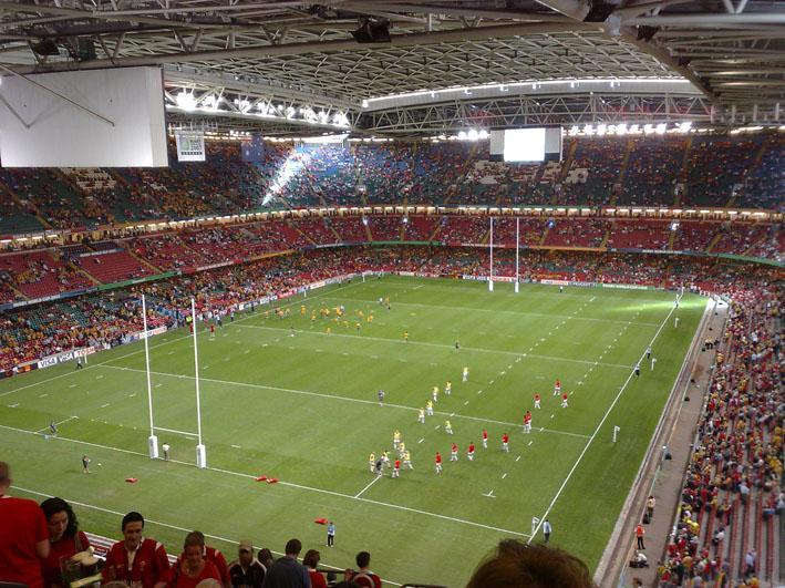 Cardiff rugby stadium. Photo.