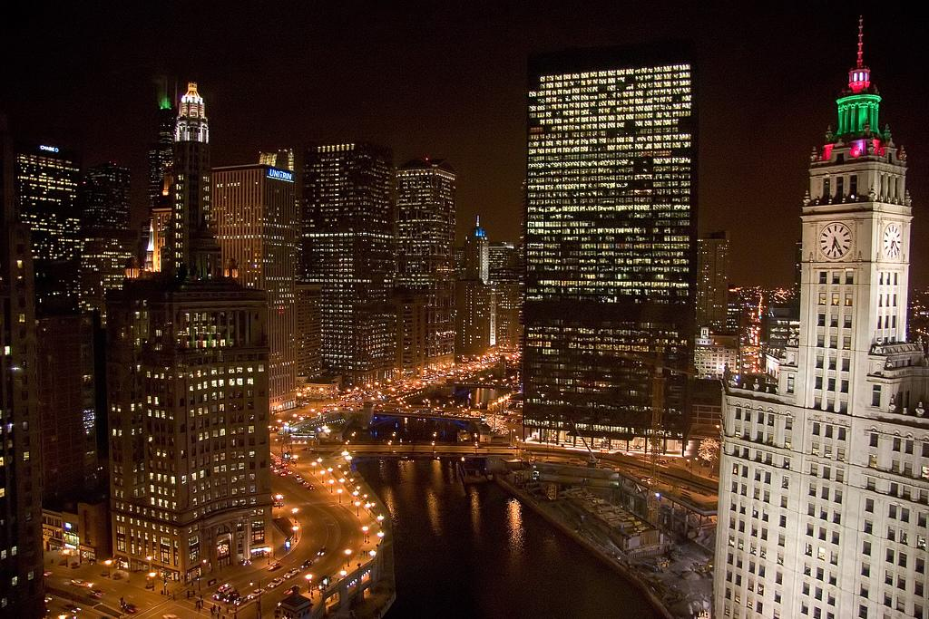 The Chicago River. Photo.