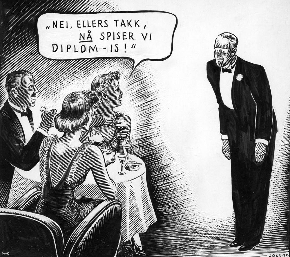 Annonse for Diplom-Is fra 1939