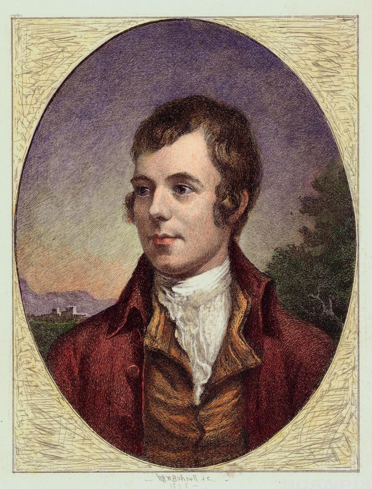 Robert Burns Engraving by William Harry Warren Bicknell