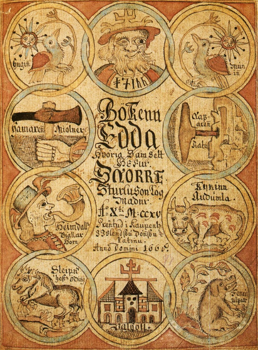 Framside av Edda-manuskript