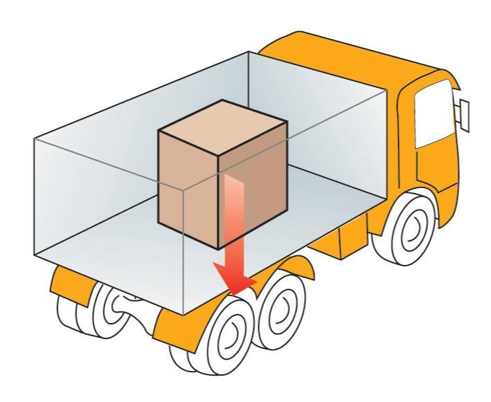 Skisse av last i lkassen på lastebil. illustrasjon.
