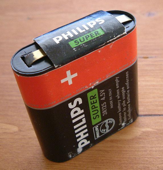 Flate batterier. Foto.