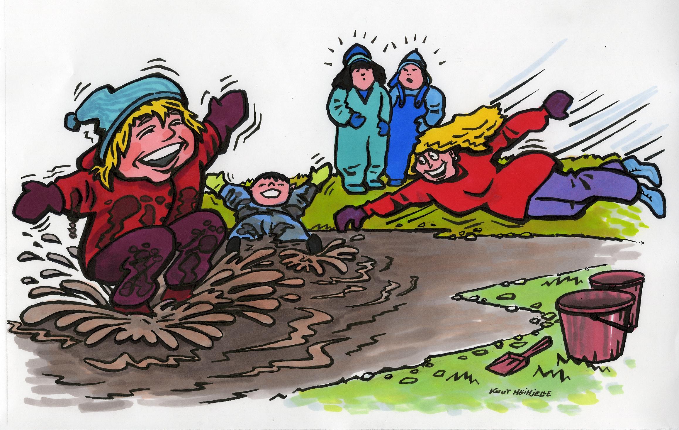 Tegninger: Tegning Barn Leker