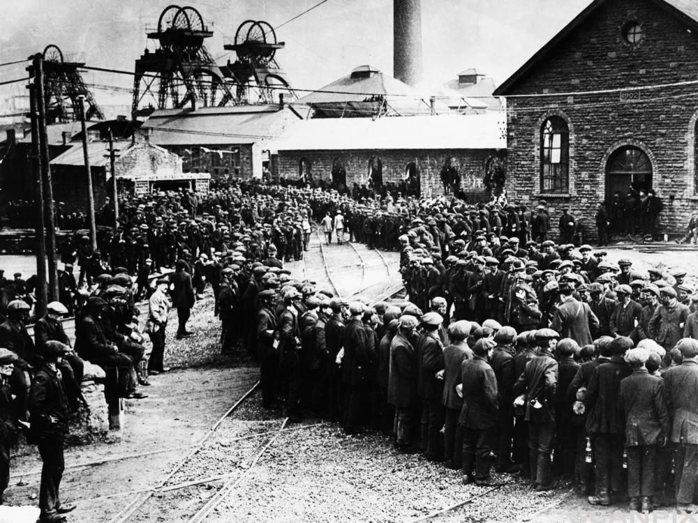 Britiske gruvearbeidere. Foto.