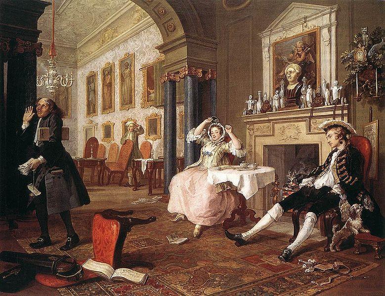 """""""The Tête à Tête"""" by William Hogarth"""