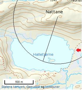 Løypekart Nattane