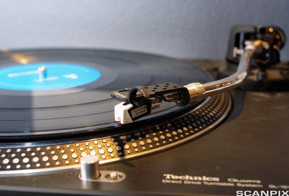 Bilde av en LP-spiller