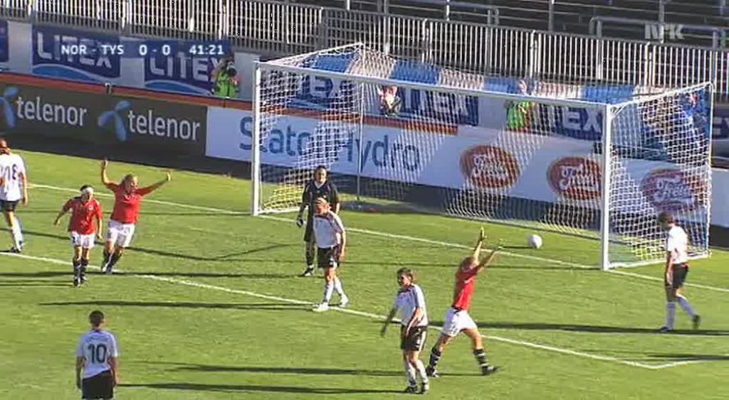 Norge scorer. Foto.