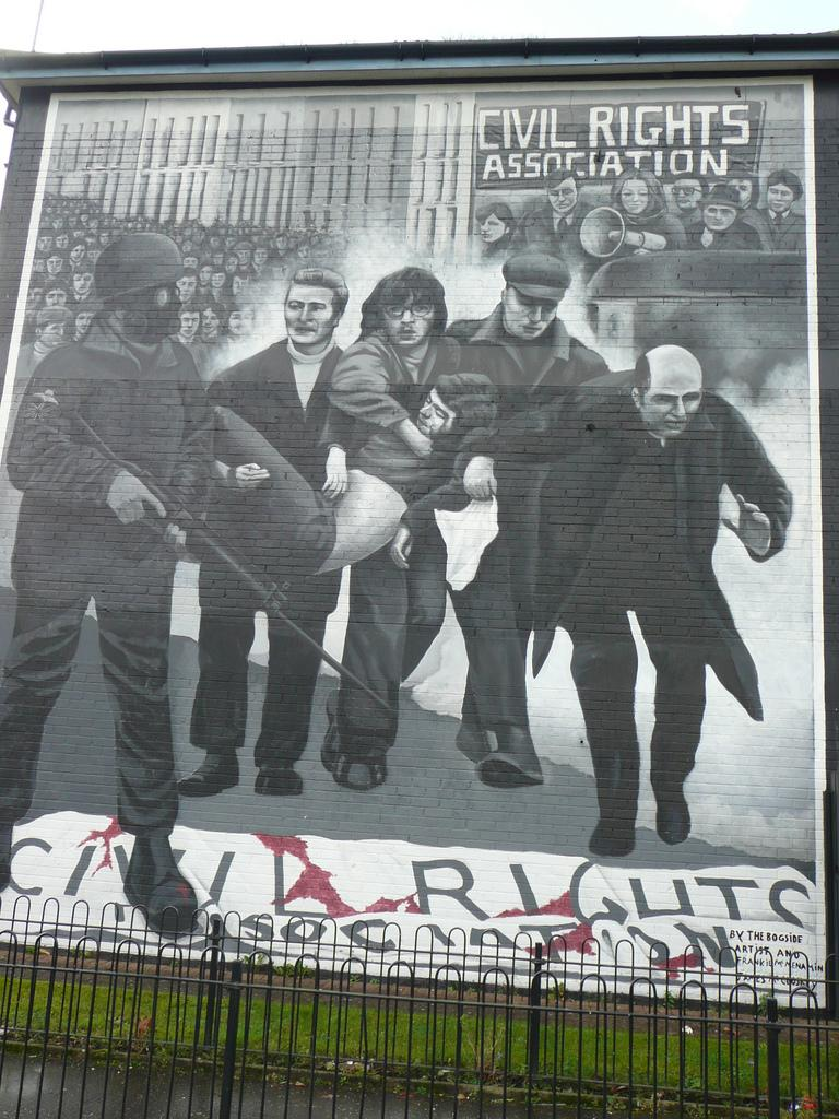 Londonderry Bloody Sunday mural. Photo.
