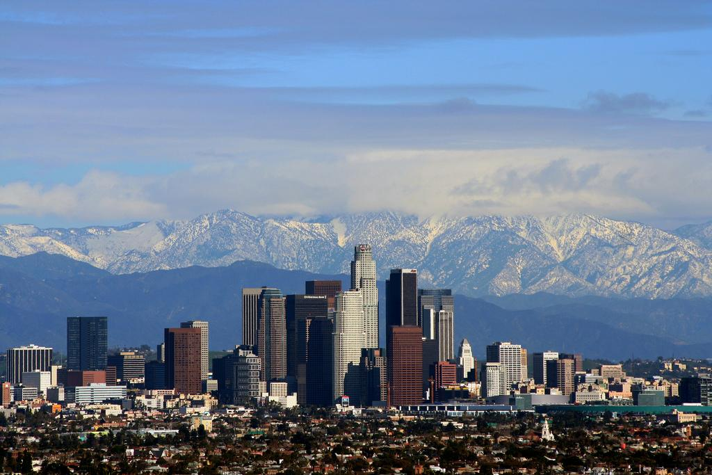 Los Angeles on a clear day. Photo.