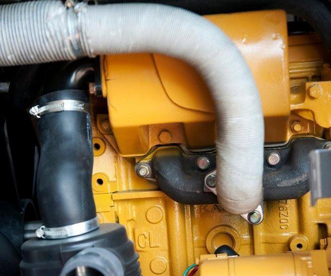 Luftkompressorrør. Foto.