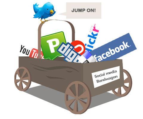 Logoene til ulike sosiale medier. Illustrasjon.