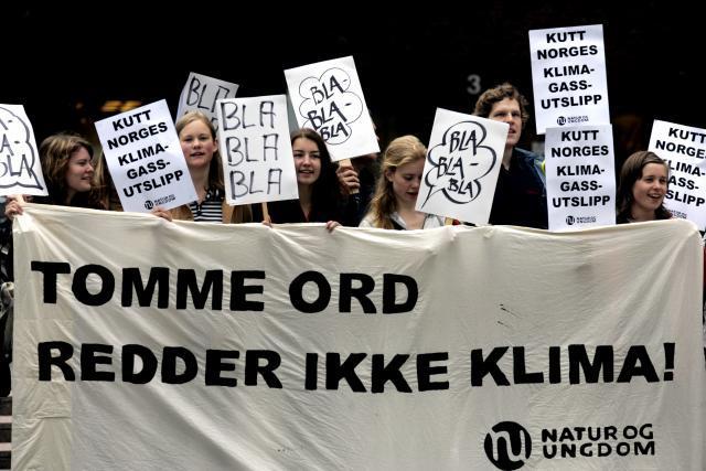 Demonstrasjon om miljøvern. Foto.