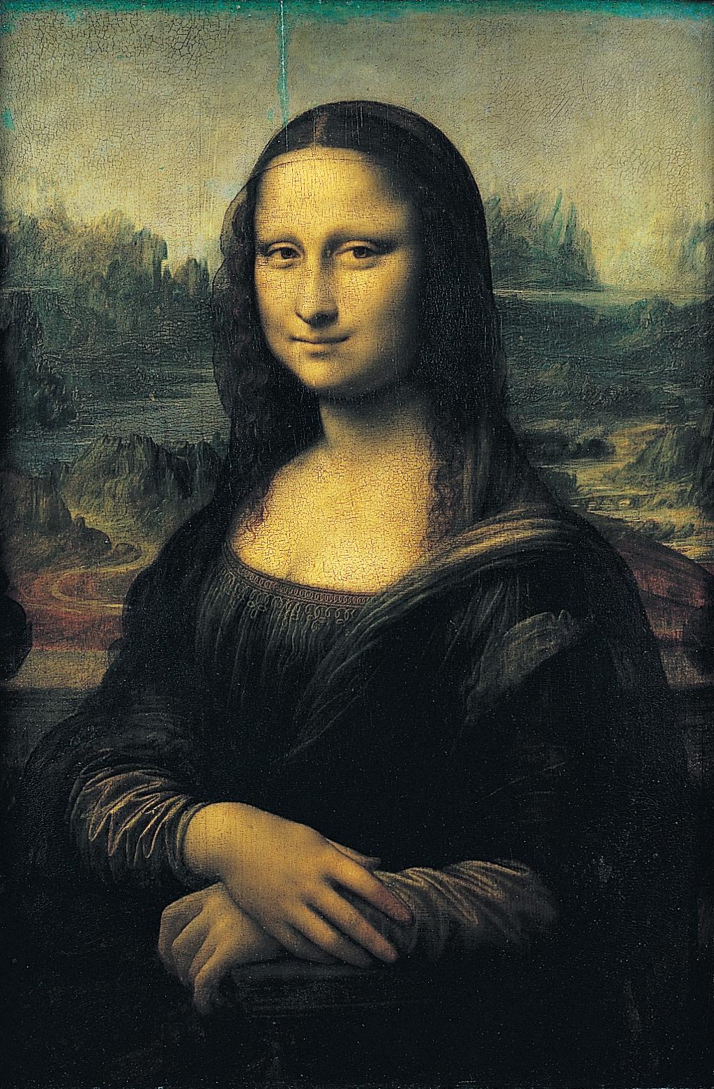 Det kjente maleriet av Mona Lisa. Maleri.