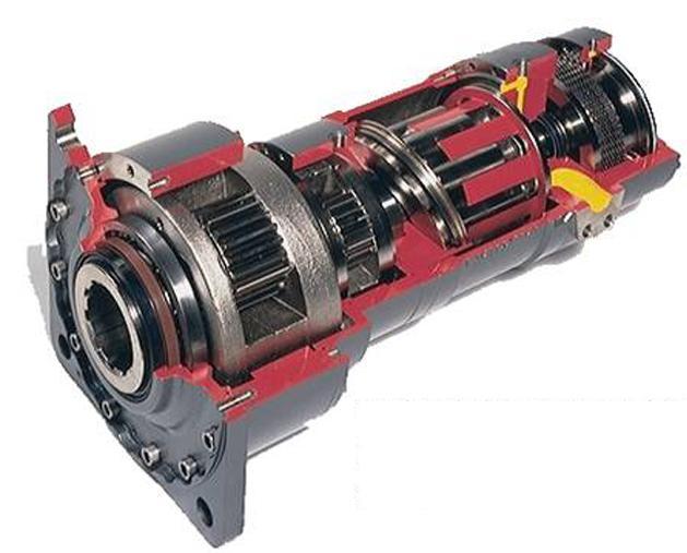 Hydraulisk motor. Foto.