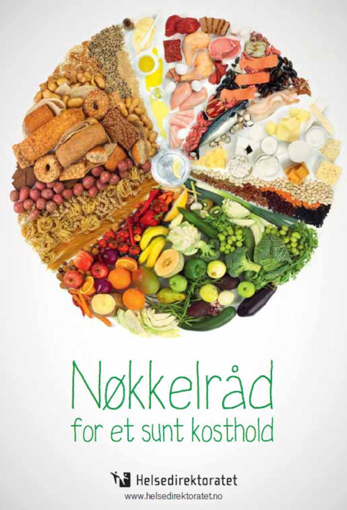 Brosjyren: Nøkkelråd for et sunt kosthold. Foto.