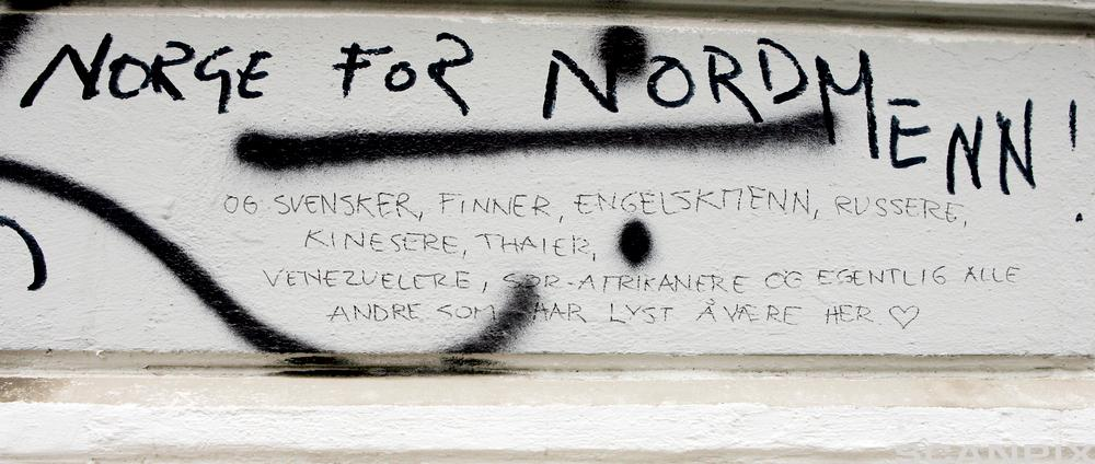 Norge for nordmenn. Tagging.
