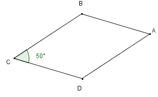 Parallellogram. Illustrasjon.