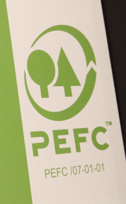 PEFC-logo. Foto.