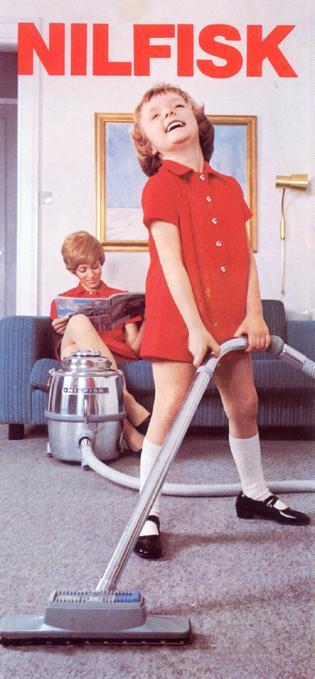 Reklame for Nilfisk støvsuger 1970
