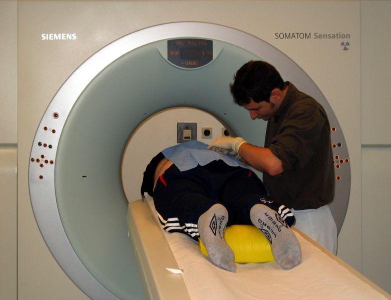 CT-maskin. Foto.