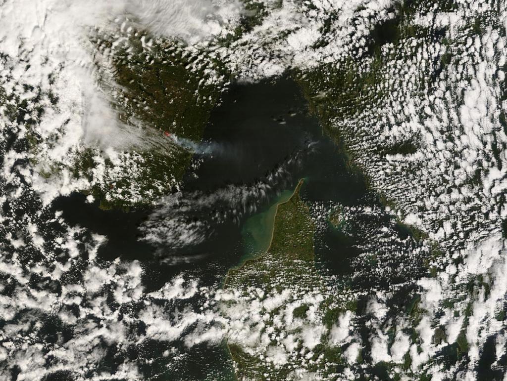 Satelittbilde av skogbrann. Foto.