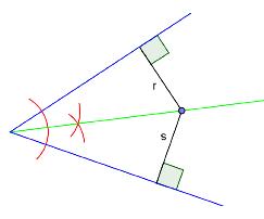 Bilde av en konstuert halveringslinje. Illustrasjon.