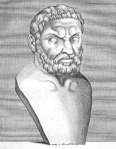 Bilde av Thales fra Milet. Tegning