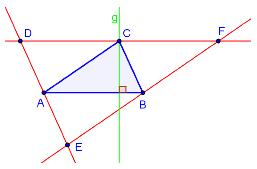 Bilde av trekant med konstruksjonene