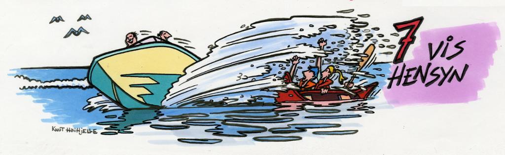 Uvettig båtkjøring.