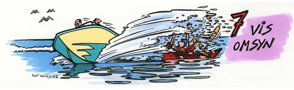 Uvøren mannøver med båt.