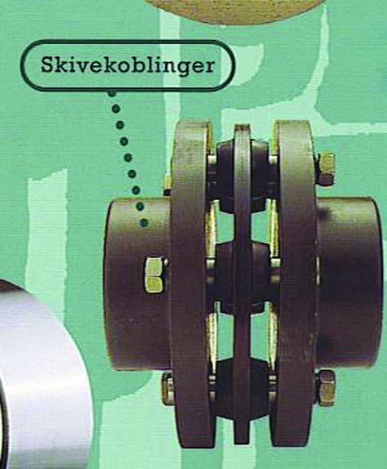 Skivekobling. Foto.